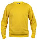 021030 Sweater Basic Roundneck Lemon Clique