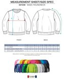 021030 Sweater Basic Roundneck Signaal-Geel Clique