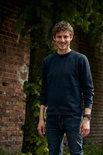021030 Sweater Basic Roundneck Diep-Oranje Clique