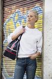 021030 Sweater Basic Roundneck Helder Kersen Clique