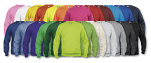 021030 Sweater Basic Roundneck Flessen Groen Clique