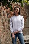 021030 Sweater Basic Roundneck Grijs-Melange Clique