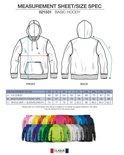 021031 Basic Hoodie Helder Kersen Clique