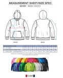 021031 Basic Hoodie Rood Clique