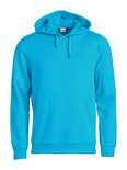 021031 Basic Hoodie Turquoise Clique