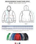 021034 Basic Hoodie Full zip Rood Clique