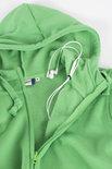 021034 Basic Hoodie Full zip Appel Groen Clique