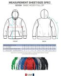 021034 Basic Hoodie Full zip Antraciet Melange Clique