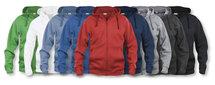 021034 Basic Hoodie Full zip Ladies Rood Clique