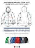021034 Basic Hoodie Full zip Ladies Zwart Clique