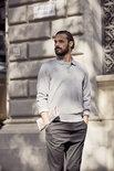 021032 Basic Polo Sweater Dark Navy Clique