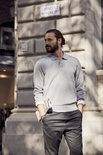021032 Basic Polo Sweater Zwart Clique