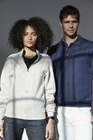 021033 Basic Sweater Half Zip Kobalt Clique