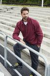 021033 Basic Sweater Half Zip Flessen Groen Clique