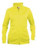 021039 Basic Cardigan Ladies Signaal Geel Clique