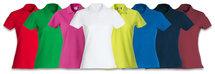 028231 Basic Polo Ladies Grijs Melange Clique