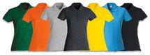 028231 Basic Polo Ladies Antraciet Melange Clique