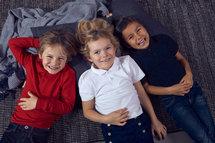 028232 Basic Polo Junior Zwart Clique
