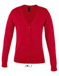 L419 Golden Women V-Neck Knitted Cardigan Sol's