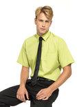 PW202 Men's Poplin Korte mouw Shirt PREMIER