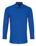 PW204 Poplin Overhemd Fitted Shirt met Lange mouwen PREMIER