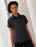 Z917F Dames Classic Twill Shirt met korte mouwen RUSSELL