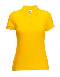 PAKKET>30 Poloshirts met (Bedrijfs) Logo Borduren! Dames Pique Polo Fruit of the Loom 65/35