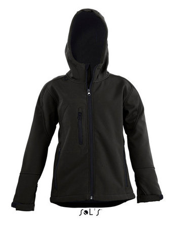 L848K Kinder Hooded Softshell Jacks Replay